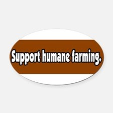 Unique Organic agriculture Oval Car Magnet