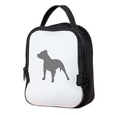pitbull gray 1C Neoprene Lunch Bag
