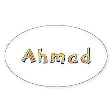 Ahmad Giraffe Oval Decal