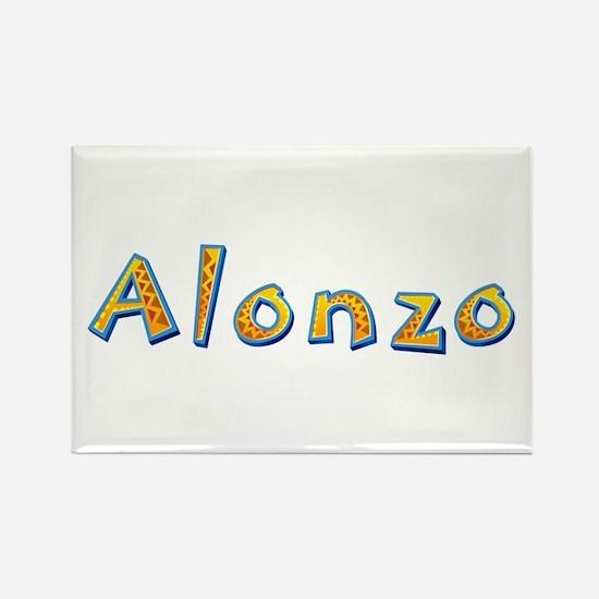 Alonzo Giraffe Rectangle Magnet