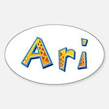 Ari Giraffe Oval Decal