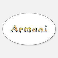 Armani Giraffe Oval Decal
