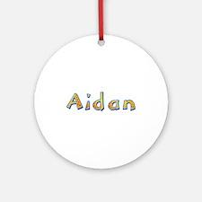Aidan Giraffe Round Ornament