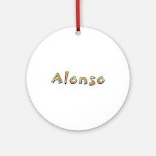 Alonso Giraffe Round Ornament