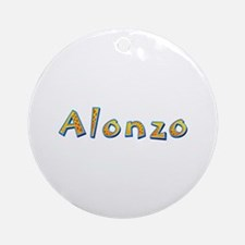 Alonzo Giraffe Round Ornament