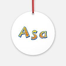 Asa Giraffe Round Ornament