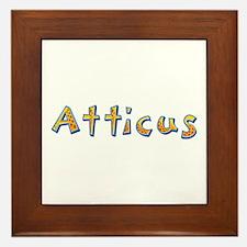 Atticus Giraffe Framed Tile