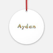 Aydan Giraffe Round Ornament