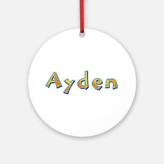 Ayden Giraffe Round Ornament
