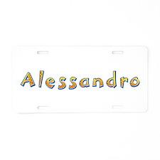 Alessandro Giraffe Aluminum License Plate