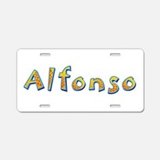 Alfonso Giraffe Aluminum License Plate