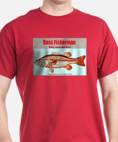 Bass Fisherman, Boats, Lures and Beer T-Shirt