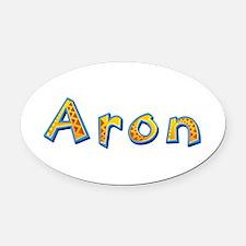 Aron Giraffe Oval Car Magnet