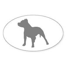 pitbull gray 1C Decal