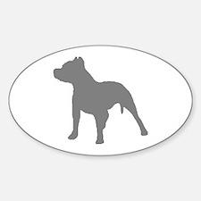 pitbull gray 1C Decal