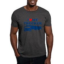 I LOVE MY TRUCKER SHIRT husba T-Shirt
