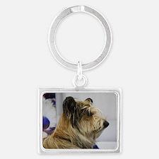 Shaggy Berger Picard Dog Landscape Keychain