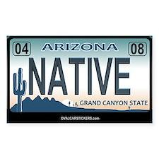 Arizona License Plate Sticker - NATIVE