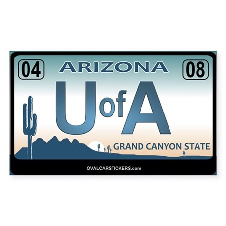 Arizona License Plate Sticker - U of A