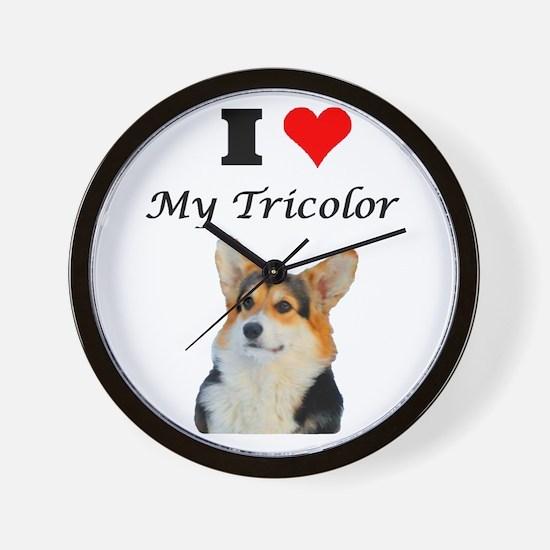 I love my Tricolor Corgi Wall Clock