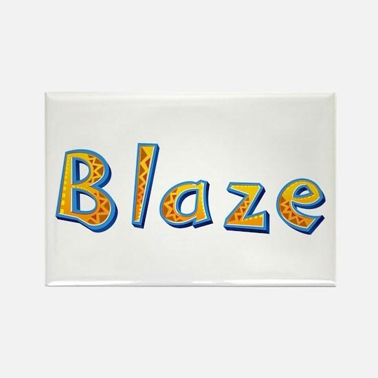 Blaze Giraffe Rectangle Magnet