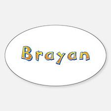 Brayan Giraffe Oval Decal