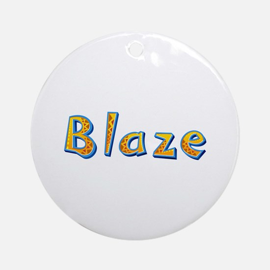 Blaze Giraffe Round Ornament
