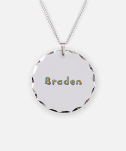 Braden Giraffe Necklace Circle Charm