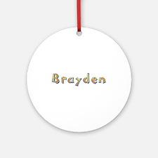 Brayden Giraffe Round Ornament