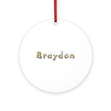 Braydon Giraffe Round Ornament