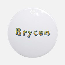 Brycen Giraffe Round Ornament