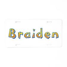 Braiden Giraffe Aluminum License Plate