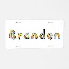 Branden Giraffe Aluminum License Plate