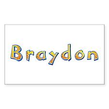 Braydon Giraffe Rectangle Decal