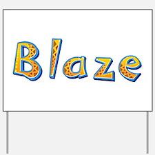 Blaze Giraffe Yard Sign