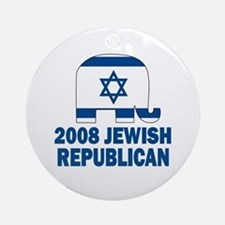 Jewish Republican Ornament (Round)