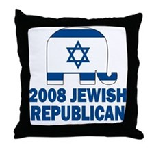 Jewish Republican Throw Pillow