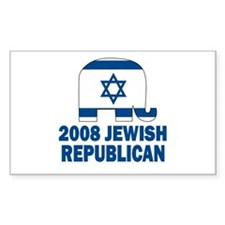 Jewish Republican Rectangle Decal