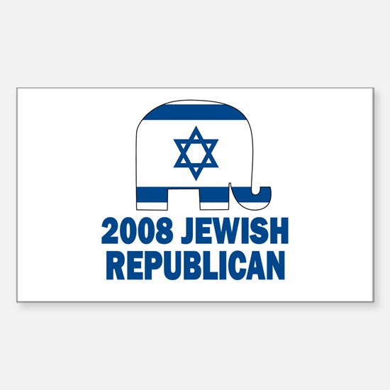 Jewish Republican Rectangle Decal