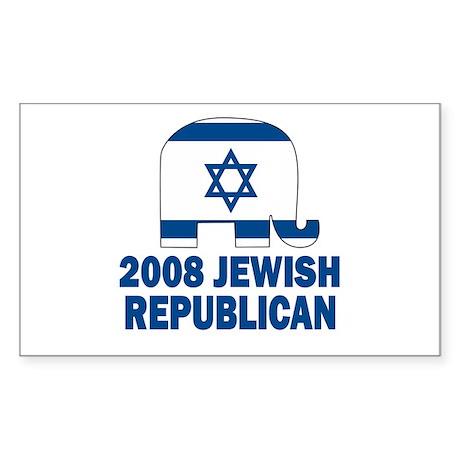 Jewish Republican Rectangle Sticker
