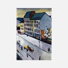 Macke - Our Street in Gray, 1911 Rectangle Magnet