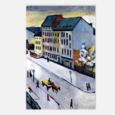 Macke - Our Street in Gra Postcards (Package of 8)