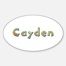 Cayden Giraffe Oval Decal
