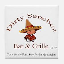 Dirty Sanchez Tile Coaster
