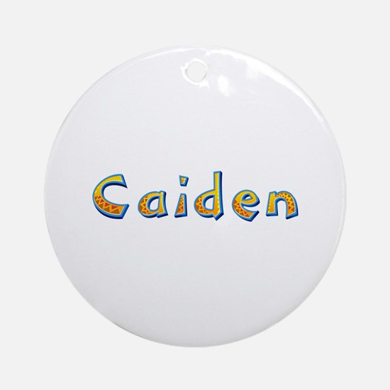 Caiden Giraffe Round Ornament