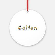 Colten Giraffe Round Ornament
