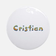 Cristian Giraffe Round Ornament