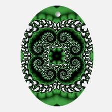 Emerald Pattern Oval Ornament