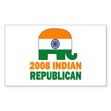 Indian Republican Rectangle Sticker