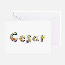 Cesar Giraffe Greeting Card